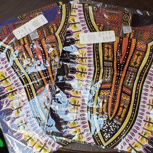 2 Pack Dashiki Caftan Men's Shirts